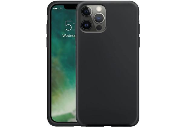 xqisit Silicone Case Anti Bac for iPhone 12 / 12 Pro black
