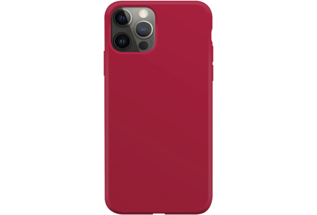 xqisit Silicone Case Anti Bac for iPhone 12 / 12 Pro red