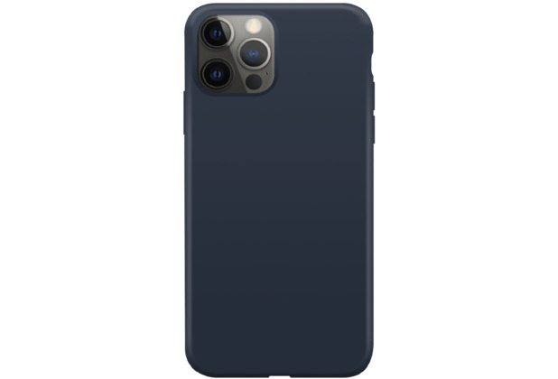 xqisit Silicone Case Anti Bac for iPhone 12 Pro Max blue