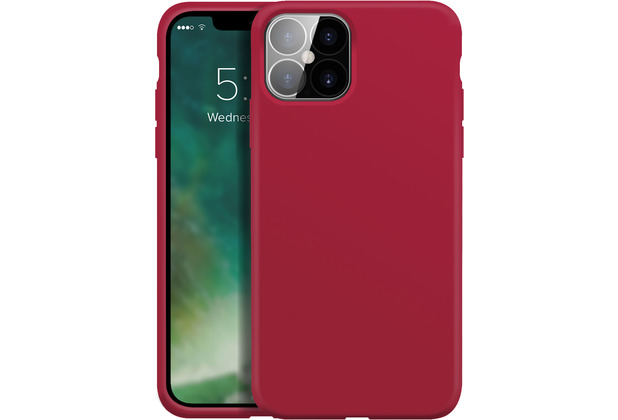 xqisit Silicone Case Anti Bac for iPhone 12 Pro Max red
