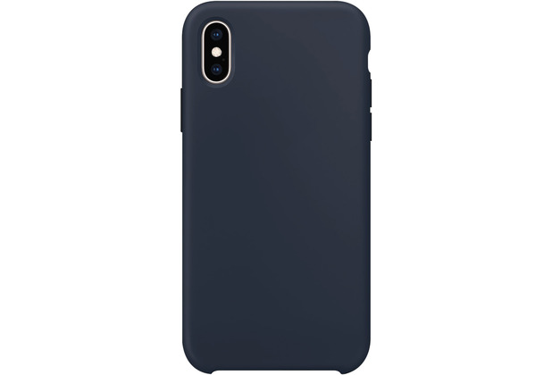 xqisit Silicone for iPhone X/Xs midnight blue