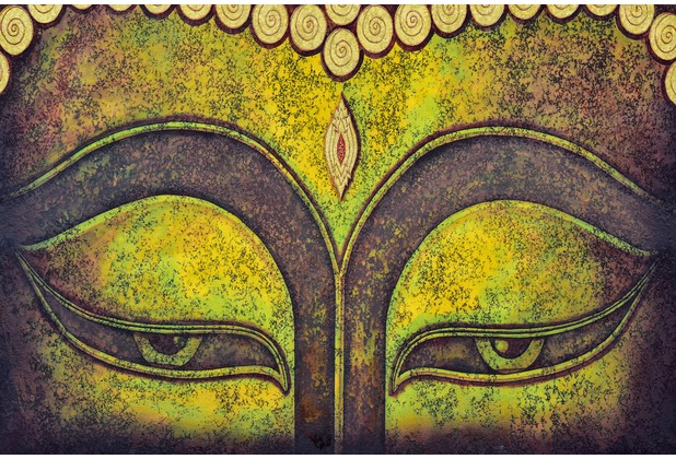 XXLwallpaper Fototapete Buddha Artwork 150 g Vlies Basic 2,00 m x 1,33 m