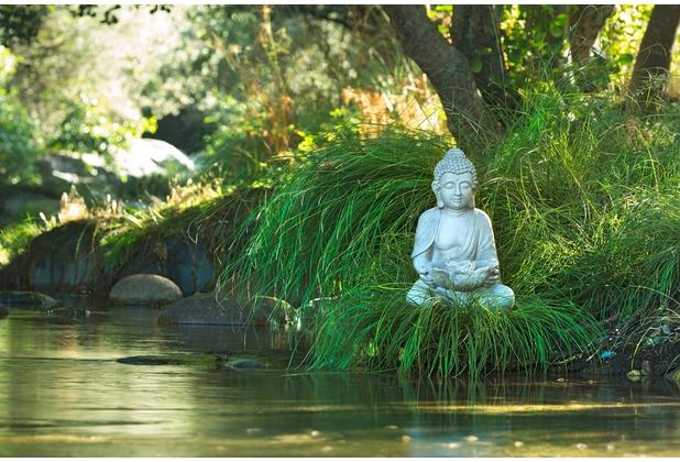 XXLwallpaper Fototapete Buddha at Lake 150 g Vlies Basic 2,00 m x 1,33 m