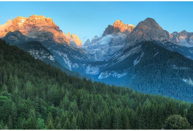 XXLwallpaper Fototapete Dolomites 150 g Vlies Basic 2,00 m x 1,33 m