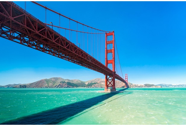 XXLwallpaper Fototapete Golden Gate 150 g Vlies Basic 2,00 m x 1,33 m