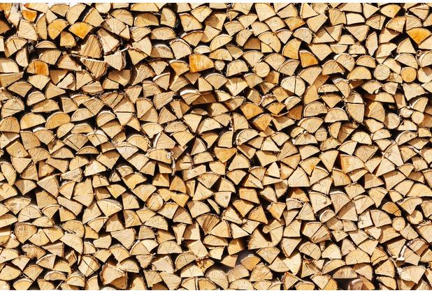 XXLwallpaper Fototapete Pile of Wood 150 g Vlies Basic 2,00 m x 1,33 m