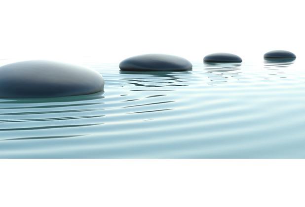XXLwallpaper Fototapete Stones in Water 150 g Vlies Basic 2,00 m x 1,33 m