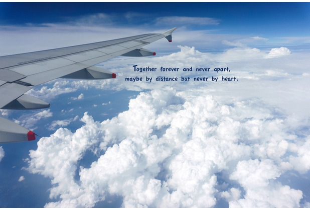 XXLwallpaper Fototapete Together Forever...Text 150 g Vlies Basic 2,00 m x 1,33 m