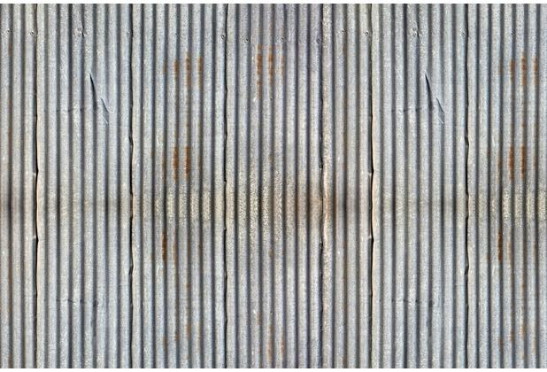 XXLwallpaper Fototapete Wellblech 150 g Vlies Basic 2,00 m x 1,33 m