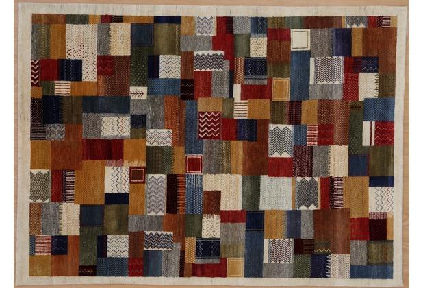 Zaba Gabbeh-Teppich Lorri Nomad Ivory/gold 70 x 140 cm