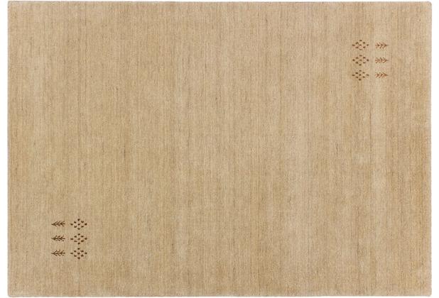 Zaba Gabbeh-Teppich Tashi beige 40 cm x 60 cm