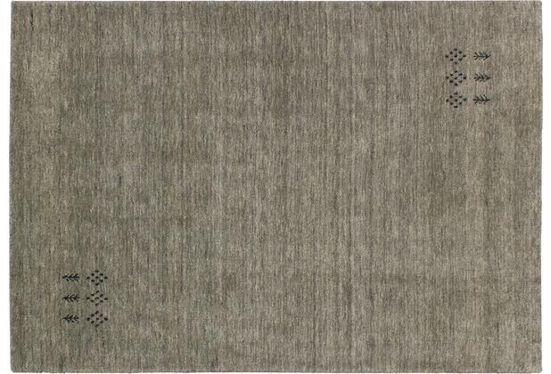 Zaba Gabbeh-Teppich Tashi hellgrau 40 cm x 60 cm