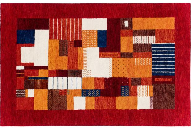 Zaba Gabbeh-Teppich Tawa rot 70 cm x 140 cm