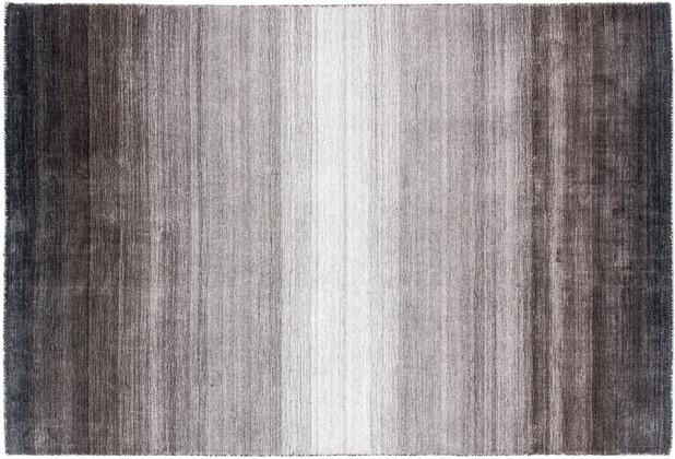 Zaba Loribaft-Teppich Riad schwarz/silber 70 cm x 140 cm