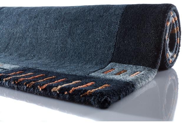 Zaba Nepalteppich Lalipur nachtblau 40 cm x 60 cm