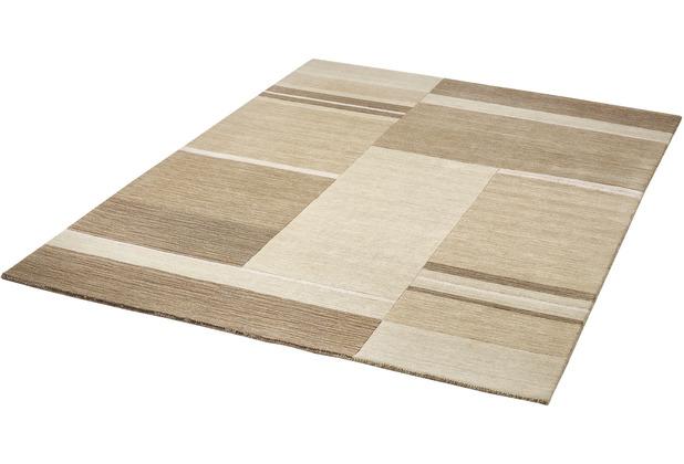 Zaba Gabbeh-Teppich Jens beige 70 x 140 cm
