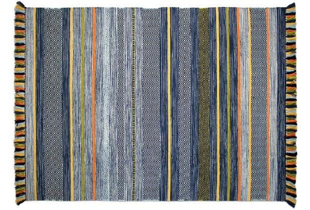 Zaba Handwebteppich Kalleen blau 60 x 90 cm