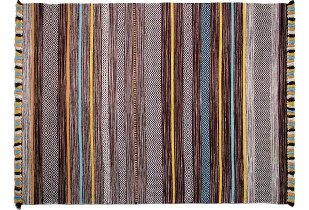 Zaba Teppich Kalleen handgewebt braun 60 x 90 cm