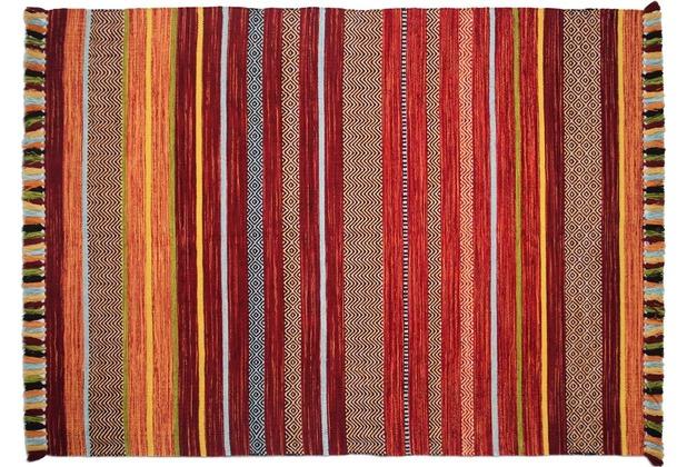 Zaba Teppich Kalleen handgewebt rot 60 x 90 cm