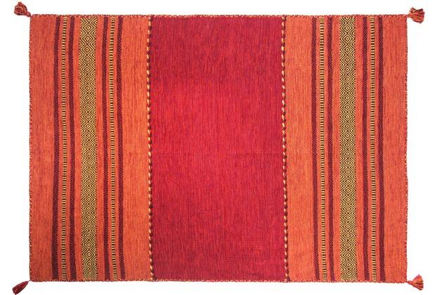 Zaba Teppich Navarro handgewebt rot 60 x 90 cm