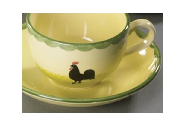 zeller keramik Kaffeeuntere 15cm Hahn und Henne