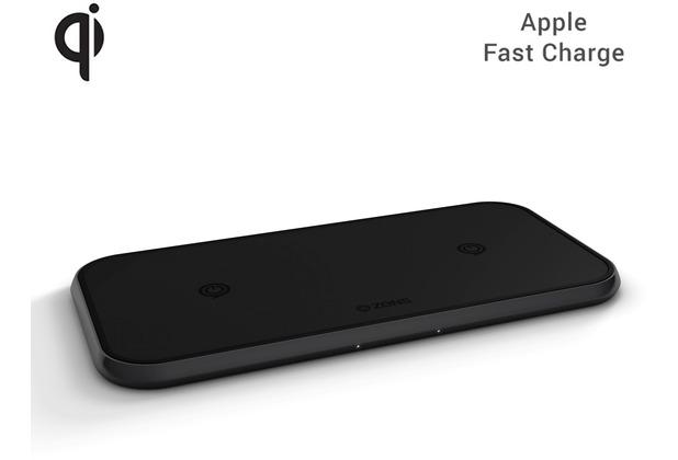 ZENS Aluminium Dual Wireless Charger 10W, Qi, schwarz
