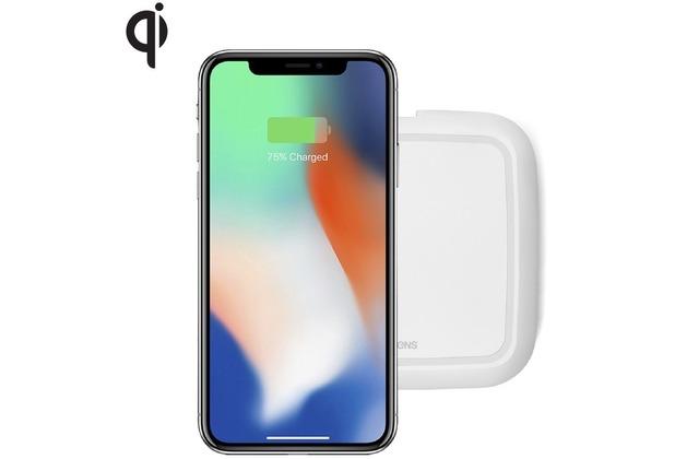ZENS Single Wireless Charger 10W Qi weiß