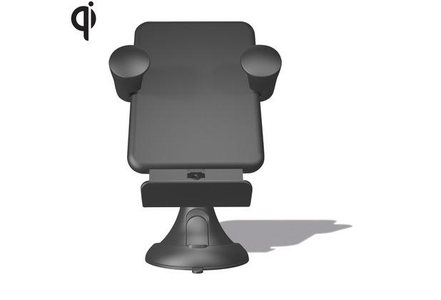 ZENS Wireless Kfz-Ladegerät für die Windschutzscheibe Qi schwarz