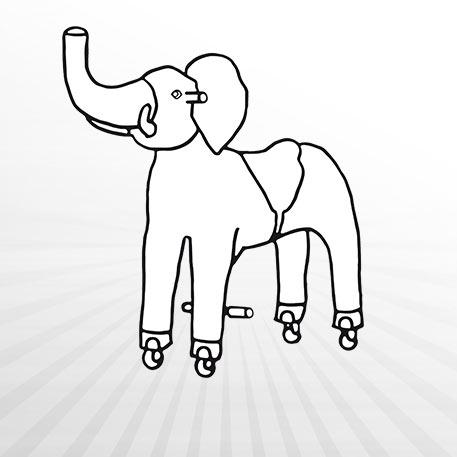 Hertie - Ausmalbild Animal Riding Elefant Sultan