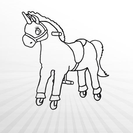 Hertie - Ausmalbild Animal Riding Einhorn