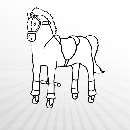 Hertie - Ausmalbild Animal Riding Pferd Amadeus