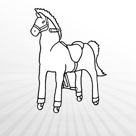 Hertie - Ausmalbild Animal Riding Pferd Snowy