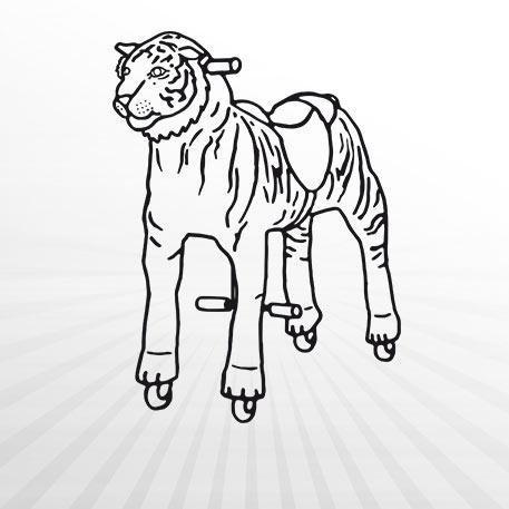 Hertie - Animal Riding Tiger Shirkan