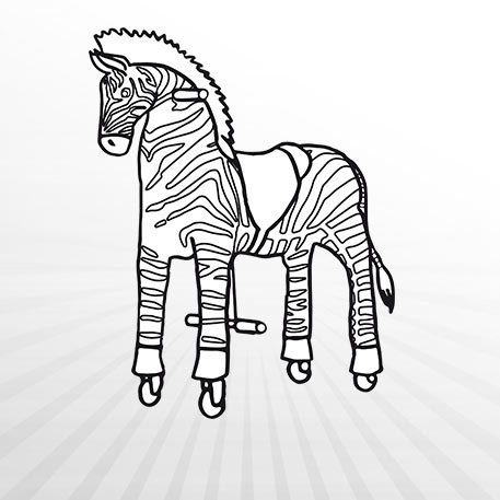 Hertie - Ausmalbild Animal Riding Zebra Marthi