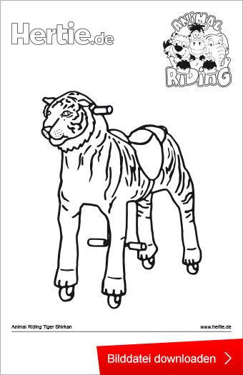 Animal Riding Ausmalbild Tiger Shirkan   Hertie.de