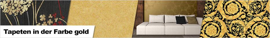 Tapeten in der Farbe gold