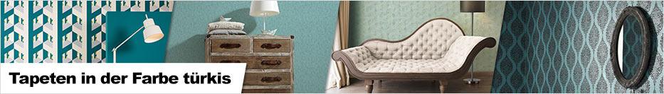 tapete in der farbe t rkis. Black Bedroom Furniture Sets. Home Design Ideas