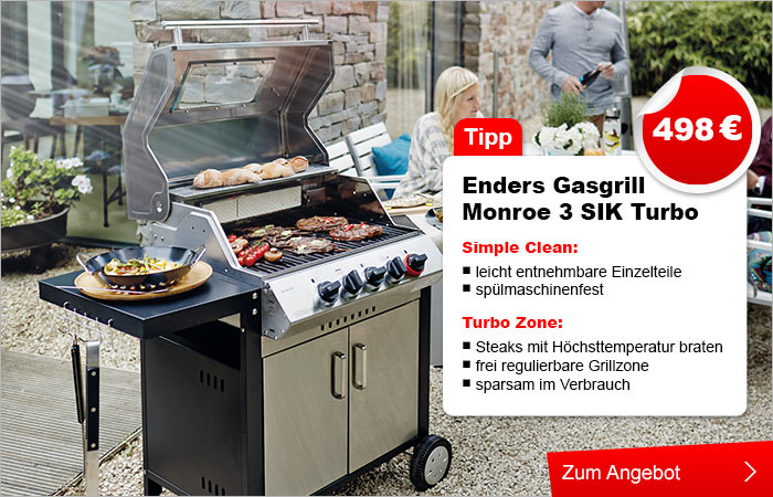 Enders Gasgrill Turbo Zone : Mr gardener gasgrill montreal r turbo zone infrarotbrenner rost
