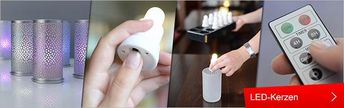 Haushalt , Tischdekoration , Gedeckter Tisch und Deko , Kerzen und Zubehör , LED-Kerzen