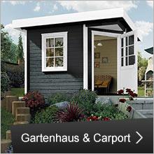 Gartenhaus und Carport