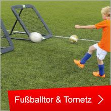 Fußballtor und Tornetz
