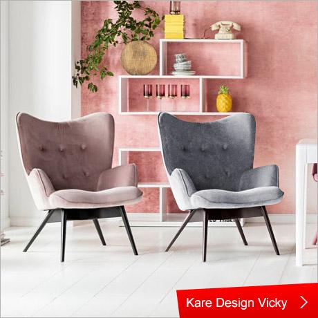 Kare Design Sessel Vicky