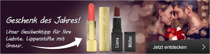 Lippenstifte mit Gravur – Geschenk des Jahres!