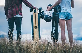 E-Skateboard in der Freizeit