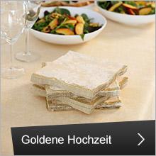 Tischdeko für die Goldene Hochzeit